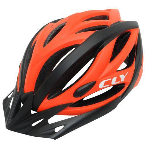 Capacete Cly In Mold MTB/Urbano Ciclismo M Preto/Laranja