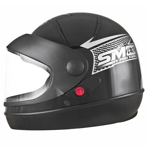 Capacete de Moto Preto Sport Moto Automático 56