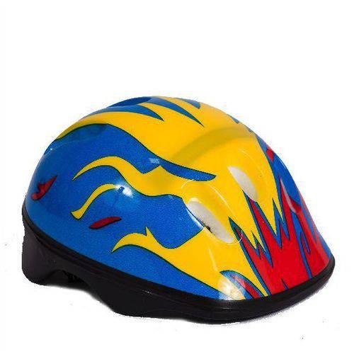 Capacete de Segurança Lucca - Estampado Azul, Amarelo e Verm