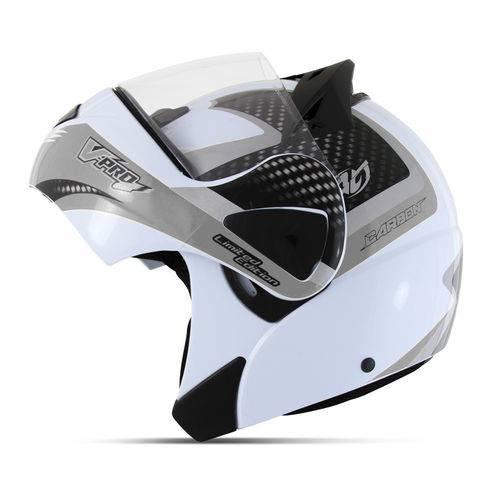 Capacete Escamoteável Robocop Pro Tork V-pro Jet 2 Branco