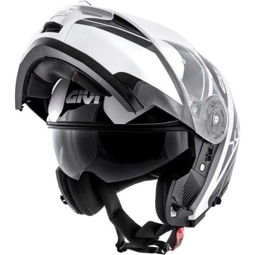 Capacete Givi X21 Globe Preto Branco Escamoteável