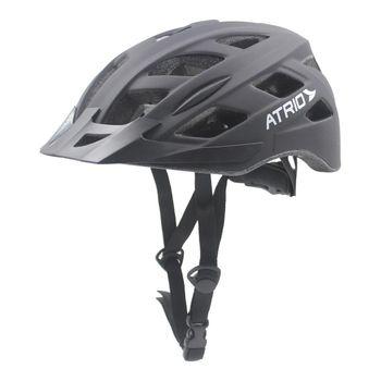 Capacete Grande para Ciclista com Led Preto Fosco Bi106 Atrio