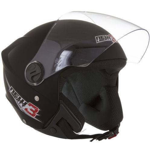 Capacete New Liberty Three Tam 56 Preto Fosco Protork
