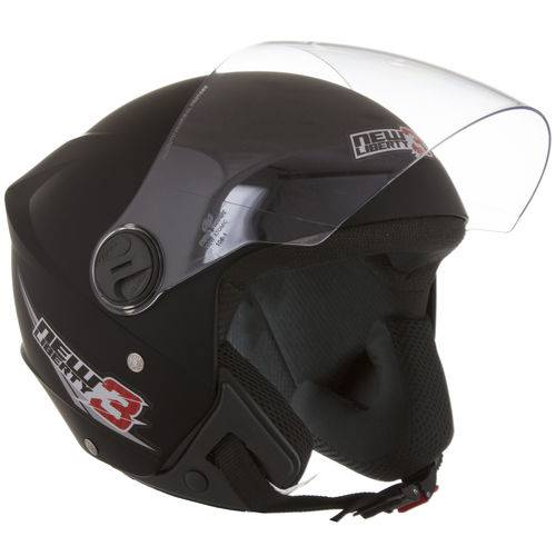Capacete New Liberty Three Tam 58 Preto Fosco Protork