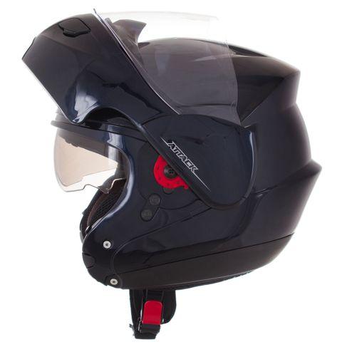 Capacete PRO TORK ATTACK Articulado Robocop Monocolor AZUL Escuro