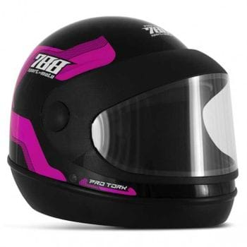 Capacete Pro Tork Sport Moto 788 PRETO/ROSA - 56