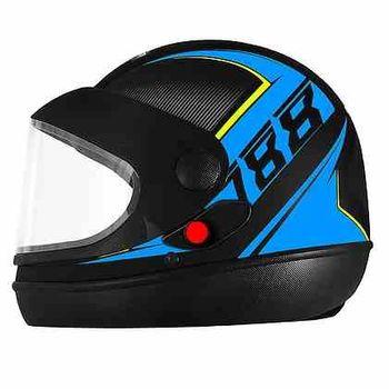 Capacete Super Sport Moto PRO TORK AZUL/PRETO - 58