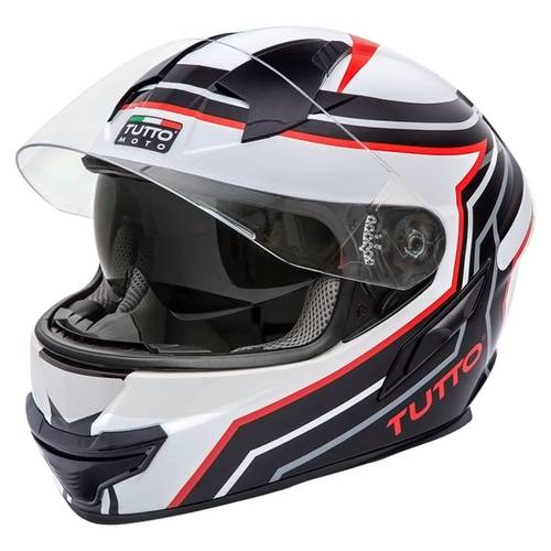 Capacete Tutto Moto Racing Black C/ Vseira Solar Interna