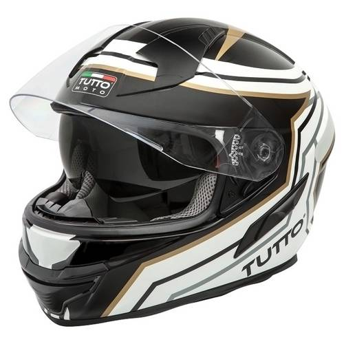 Capacete Tutto Moto Racing Gold C/ Vseira Solar Interna G