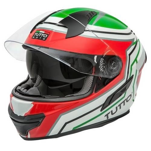 Capacete Tutto Moto Racing Itália C/ Vseira Solar Interna