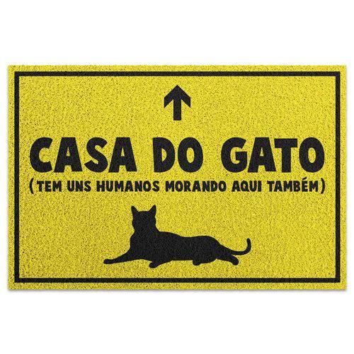 Capacho em Vinil Casa do Gato