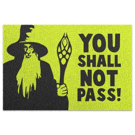 Capacho em Vinil You Shall Not Pass