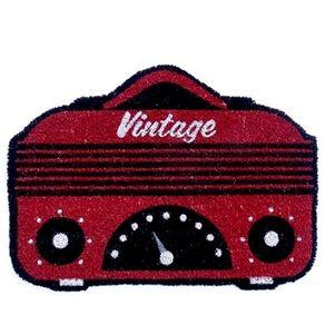Capacho Rádio Vintage Vermelho
