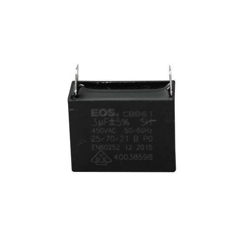 Capacitor 3 Mfd 450vac com Fio