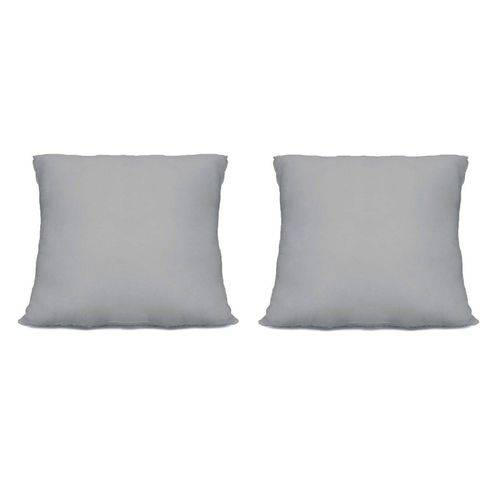 2 Capas Almofadas Cinza para Sublimação + Enchimento 40x40