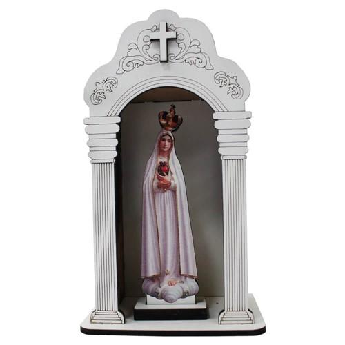 Capela Pequena Branca Nossa Senhora de Fátima | SJO Artigos Religosos