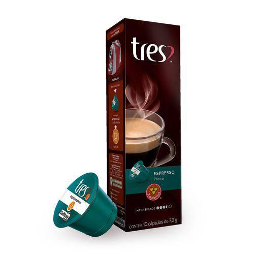 Cápsulas 3 Corações - Espresso Pleno 10 X 8,0g