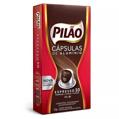 Cápsulas de Alumínio Espresso 10 - Pilão 10 X 52g