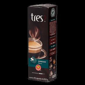 Cápsulas de Café 3 Corações Espresso Pleno 80g (10x8g)