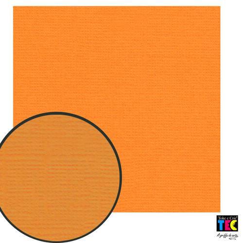 Cardstock Texturizado Toke e Crie Laranja Claro - 14847 - Pcar414