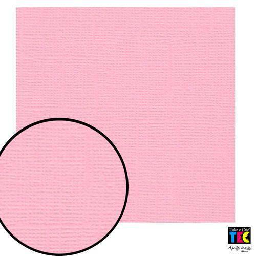 Cardstock Texturizado Toke e Crie Rosa Pastel - 9690 - Pcar028