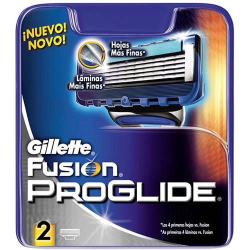 Carga de Aparelho de Barbear Gillette ProGlide Regular - 2 Unidades