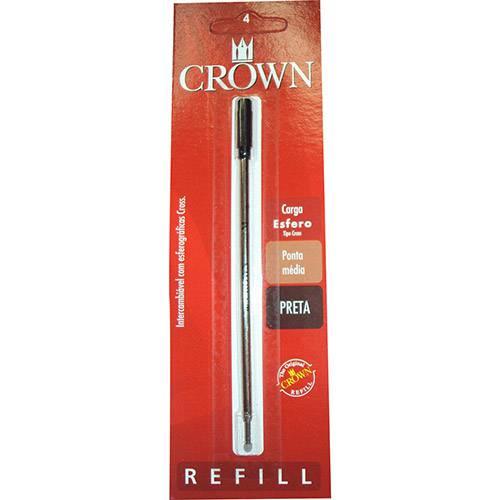 Carga Esferográfica Preta Tipo Cross - Crown