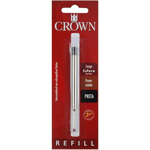 Carga Esferográfica Preta Tipo Parker - Crown