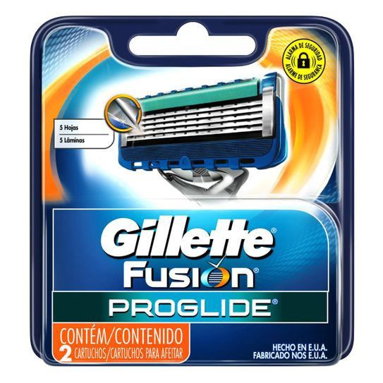 Carga Gillette Fusion Proglide Regular com 2 Unidades