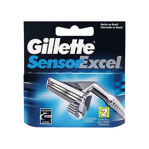 Carga Gillette Sensor Excel Azul com 2 Unidades