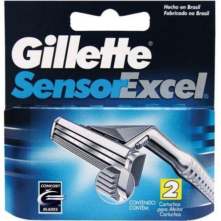 Carga para Aparelho de Barbear Gillette Sensor Excel 2 Unidades