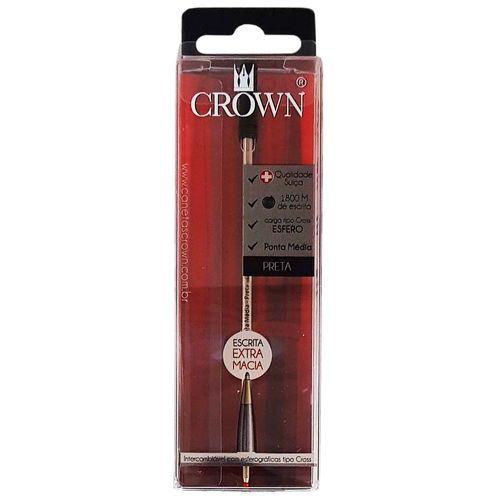 Carga para Caneta Crown CA12009P Preta 1027000