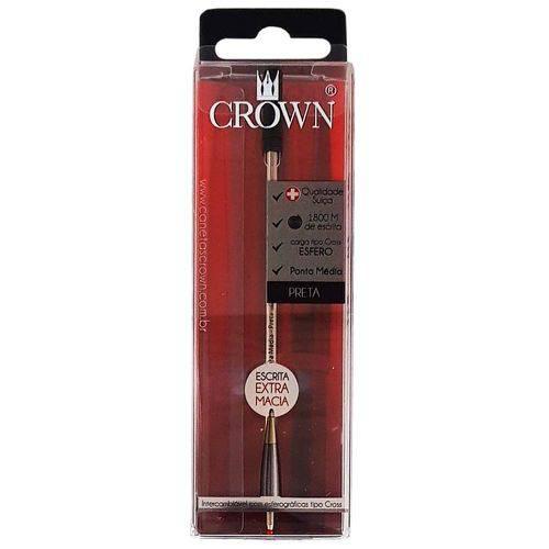 Carga para Caneta Crown Ca12009p Preta