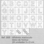 Carimbo Alfabeto Maiusculo - Letra de Forma - 008