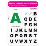 Carimbo Alfabeto Maiusculo Letra de Forma