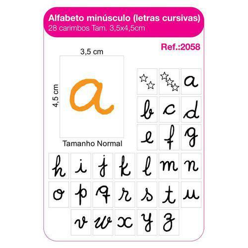 Carimbo Alfabeto Minuscula Letra Cursiva