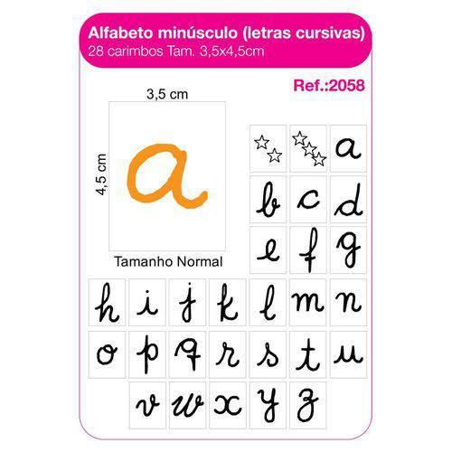 Carimbo Alfabeto Minusculo Letra de Forma