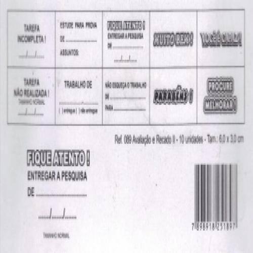 Carimbo Avaliacao e Recado 2 - 089