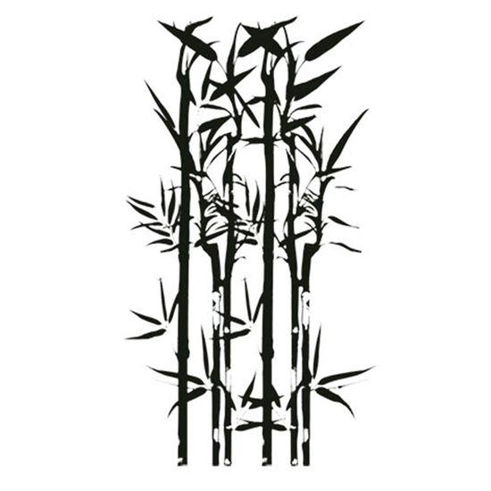 Carimbo em Borracha Litoarte CLP-046 Bamboo