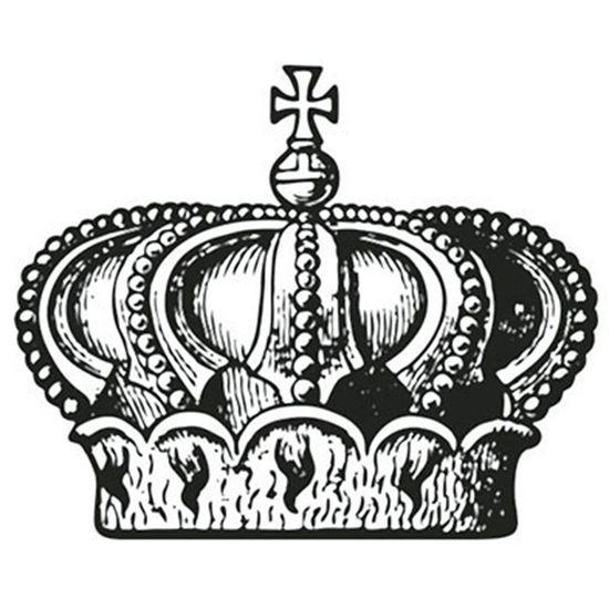 Carimbo em Borracha Litoarte CLP-081 Coroa
