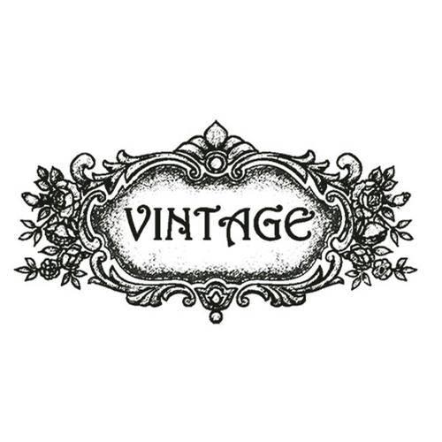 Carimbo em Borracha Moldura Vintage Clp-042 - Litoarte