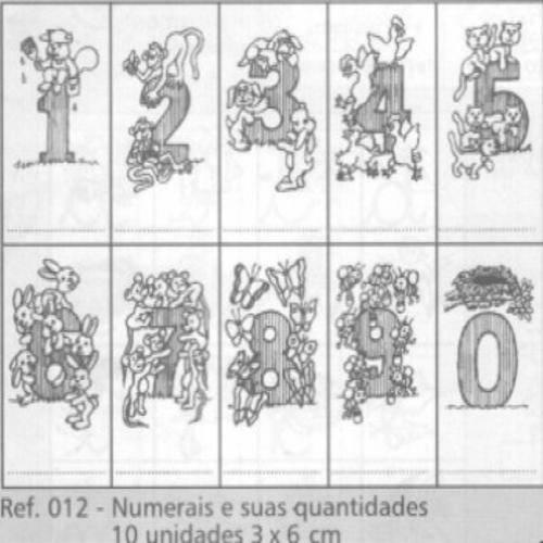 Carimbo Numerais e Suas Quantidades - 012
