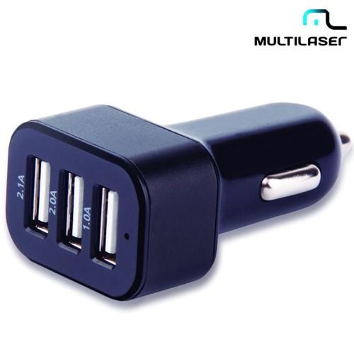 Carregador Automotivo com 3 Saídas USB CB074 - Multilaser