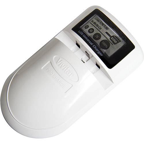 Carregador Bivolt Vivitar Vivsc4200W + Veicular Aa/Aaa/Bateria+USB