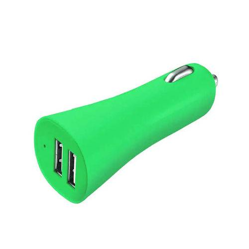 Carregador de Celular Smartogo Automotivo 12v USB Verde