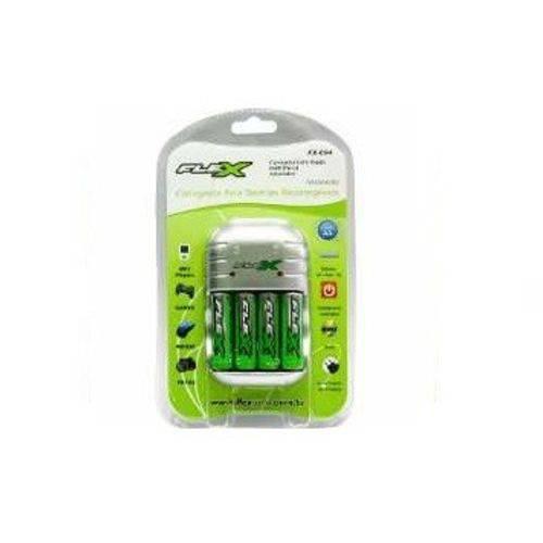 Carregador de Pilhas e Bateria Fx-c03/4p Aa-aaa-9v