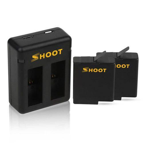 Carregador Duplo + 2 Baterias para Câmeras GoPro Hero 5 6 7 Black