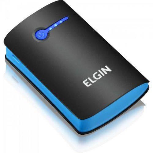 Carregador Portátil USB 5200mAh CP-5200 Preto/Azul ELGIN