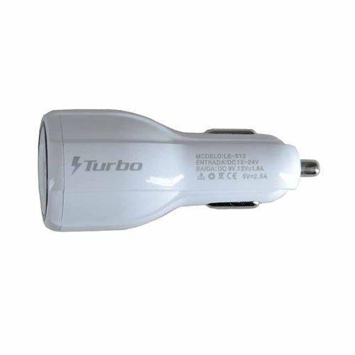 Carregador Turbo Power Veicular 2.0 com 2 Portas USB