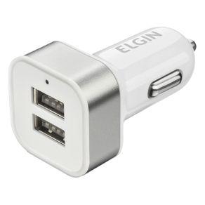 Carregador USB Automotivo Elgin 46RCV2USB000 2 Saídas USB Branco
